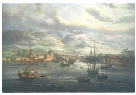 Bergens Våg malt av I. C. Dahl i 1833