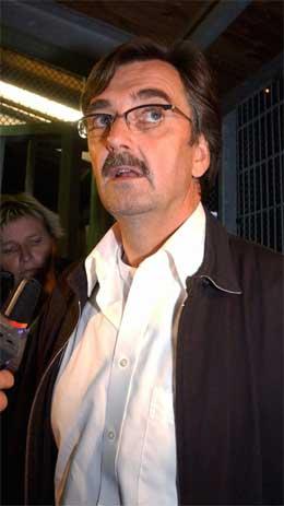 Kjendisadvokaten Gunnar Falk er forsvarar for 35-åringen som er mistenkt for drapet på Anna Lindh. (Scanpix-foto)