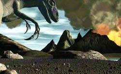 Slik tenker SINTEF seg at det så ut for 150 millioner år siden.