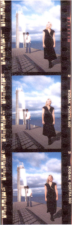Stella For Star* består av Henning Fjeld i bakgrunnen og Anja Antonsen. Foto: Promo.