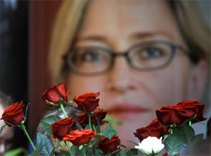 Sveriges utenriksminister Anna Lindh ble knivdrept forrige uke. (Foto: Alexander Demianchuk/Reuters/Scanpix)