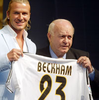 David Beckham, nå i Real Madrid. Foto:Scanpix