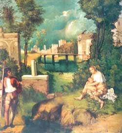 "Giorgione malte ""Stormen"" i 1507."