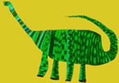 Slik tror en skoleelev at dinosuren Mamenchisaurus så ut