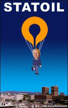 Statoil-sjef med gylden fallskjerm: I 2003 fikk ble konsernsjef Olav Fjell sparket, men fikk med seg 7,5 millioner i fallet. (Alltid Moro)