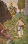 Cleodolinda leier dragen i tau.