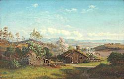 Lars Hertervig. Falkeid gård, Tysvær.