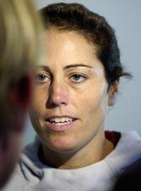Alle mine verste fotballminner er fra kamper mot Norge, sier USAs kaptein Julie Foudy (Foto: Erlend Aas, Scanpix)