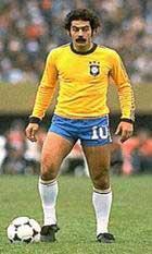 Rivelino overtok drakt nummer 10 etter Pele på Brasil.