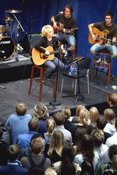 Lene Marlin haldt sist veke konsert på Oslo City for fans. Foto: Scanpix.
