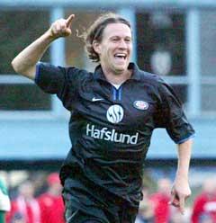 Morten Berre jubler for sin scoring på overtid. (Foto: Alf Ove Hansen / SCANPIX)
