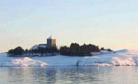 Her er et bilde av Avaldsnes kirke. Foto: NRK