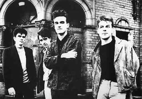 The Smiths slik de framstår på omslaget til plata