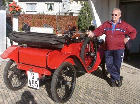 Jan Helgedal med sin amerikanske Tumbull