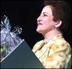 Den iranske advokaten og menneskerettighetsforkjemperen Shirin Ebadi.