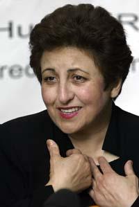 - At denne prisen blir gitt til en iransk kvinne viser at de iranske kvinnenes kamp ikke er forgjeves, sa Shirin Ebadi (Foto: J.Schults/ Reuters / Scanpix)