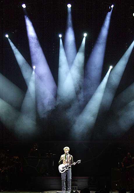 David Bowie i Oslo Spektrum. Foto: Thomas Bjørnflaten, Scanpix.
