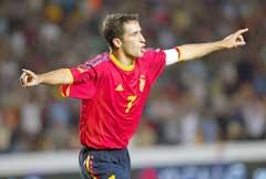 Raul skal score målene for Spania.