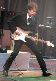 Bob Dylan var i Oslo også i 1999, da spilte han på Norwegian Wood. Foto: Scanpix.