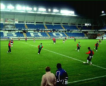 Leiria trente på Molde stadion i går kveld. Foto: Gunnar Sandvik