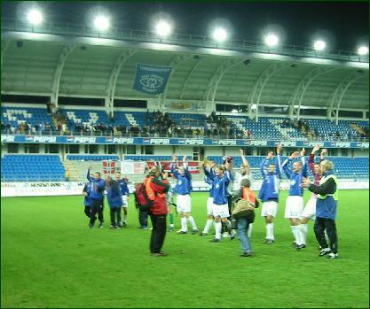 Molde jubler for videre UEFA-spel. Foto: Gunnar Sandvik