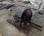 Arkeolog i arbeid