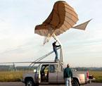 Glideflyet montert på bil