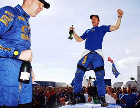 Petter vant en eventyrlig seier i Rally Korsika. (Foto: www.swrt.com)