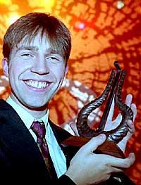 Leif Ove Andsnes da han mottok sin fjerde Spellemannpris i 1994. I fjor vant han sin sjuende Spellemann. Foto: Tor Richardsen, Scanpix.