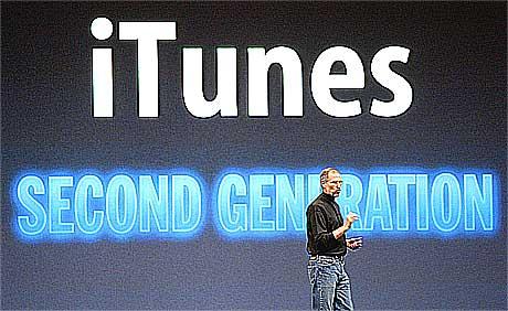 Steve Jobs lanserte windows-versjonen av iTunes i forrige uke. Foto: Justin Sullivan, AFP.