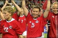 Får vi oppleve ny norsk jubel i EM. Bildet viser Gulljentene fra Sydney-OL.