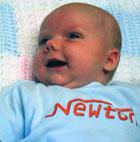 Jannes baby er fornøyd med å ha blitt født!
