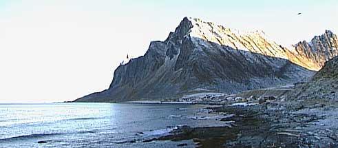 Utsikt over Vikten på yttersiden av Lofoten. Alle foto: NRK.