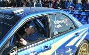 Konsentrert: Petter Solberg har langt fram på spansk asfalt (Foto: Scanpix)