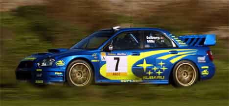 Petter Solberg, Rally Katalonia 2003, (Foto: Scanpix/AFP/Lluis Gene)