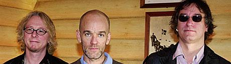 R.E.M. holdt en presekonferanse på Holmenkollen Park hotell. Foto: Erlend Aas, Scanpix.