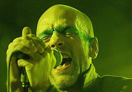Michael Stipe er et like stort rockeikon som Bono og Mick Jagger, og hadde en nesten skremmende sterk utståling. Foto: Erlend Aas, Scanpix.