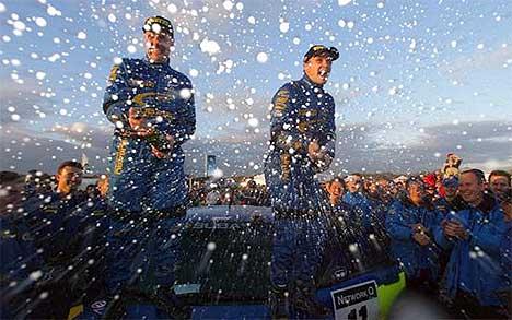 Petter Solberg vant VM-runden i Wales i fjor. Gjør han det i år, blir han verdensmester... (Foto: www.swrt.com)