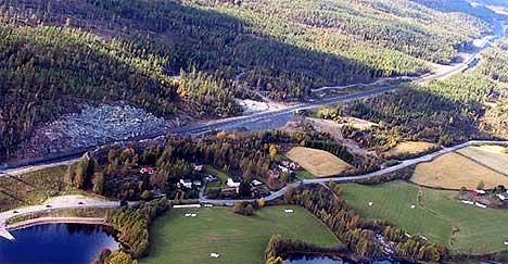 Fra E18 mellom Ørje og Eidsberg