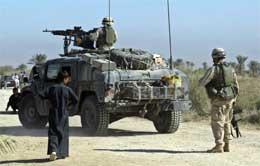 De amerikanske styrkene har ikke kontrollen i Irak. (Scanpix-foto)