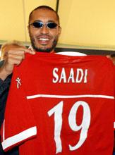 Saadi Gaddafi har testet positivt på nandrolon. (Foto: Gregorio Borgia/AP)