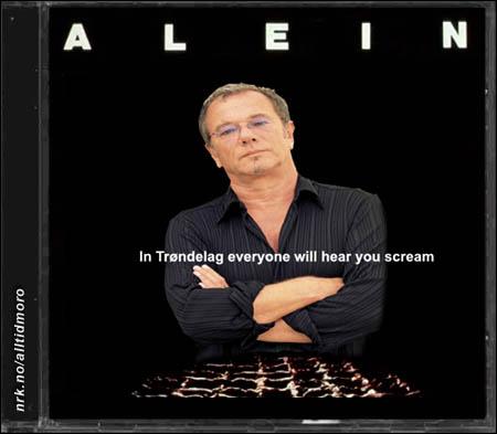 Åges nye plate likner til forveksling plakaten for ALIEN-filmen. (Innsendt av Bjørn Tore Hindklev)