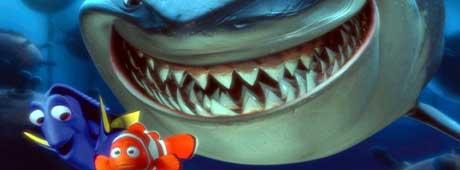 Slik ser den amerikanske klovnkefiske Nemo ut; orange med hvite striper