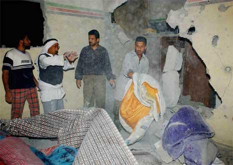 Ny uro i Gaza i natt. Minst to mennesker ble drept på Gazastripen. (AP-foto)