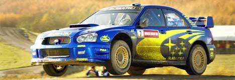 Petter Solberg har utrolig nok ikke hatt en personlig sponsoravtale som profesjonell fører.(Foto fra Rally Wales: Scanpix/Erlend Aas)