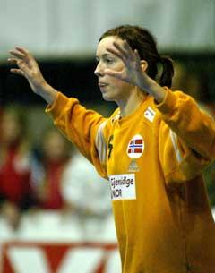 Kathrine Lunde spilte godt i mål. (Foto: Morten Rakke / Scanpix)