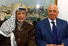 Arafat og Quire (Foto: Hussein Hussein / Reuters / Scanpix)