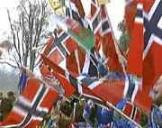 Det blir nok enda flere norske flagg på torget i Spydeberg enn det var i Wales.
