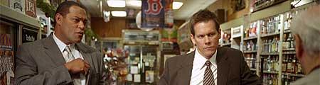 """Laurence Fishburne sammen med Kevin Bacon i """"Mystic River""""."""