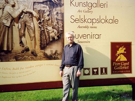 Hægstad Gård - et kunstgalleri i Hellesylt med Parr sine Peer Gynt-relieffer.